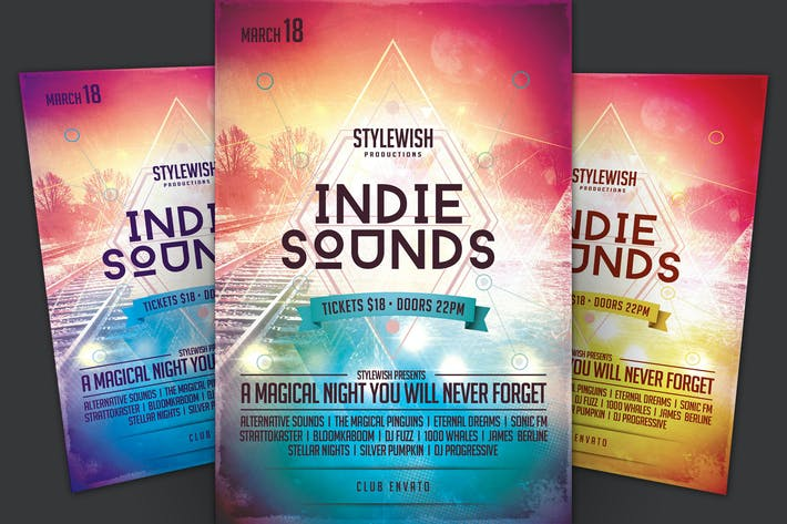 Thumbnail for Indie Sounds Flyer