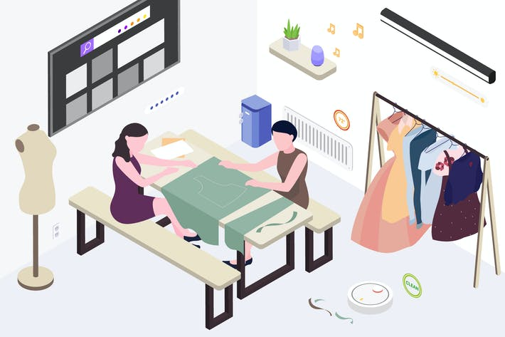 Thumbnail for Smart Things for Fashion Store Isometric