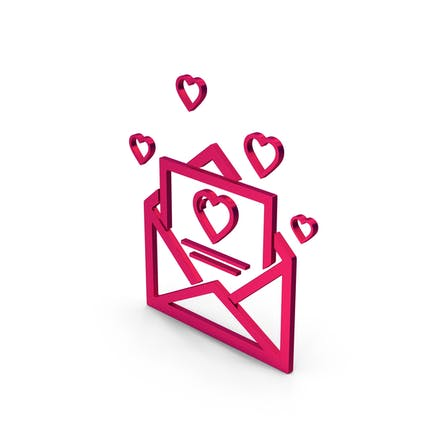 Symbol Love Letter Metallic