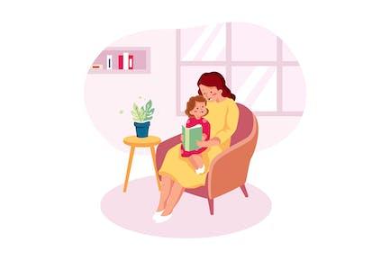 Livre de conte de fées de lecture mère pour bébé enfant