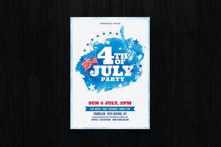 Dépliant du 4 juillet/Affiche