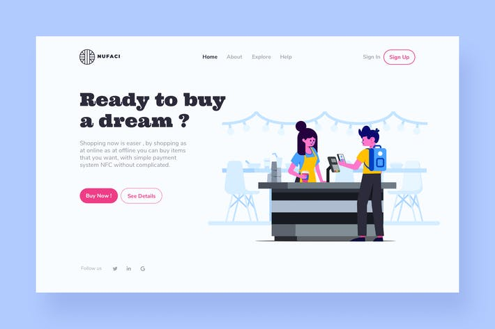 Thumbnail for Shopping Landing Page Illustration