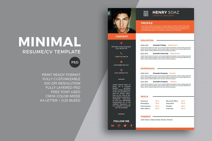 Thumbnail for Minimal Resume Tempalte