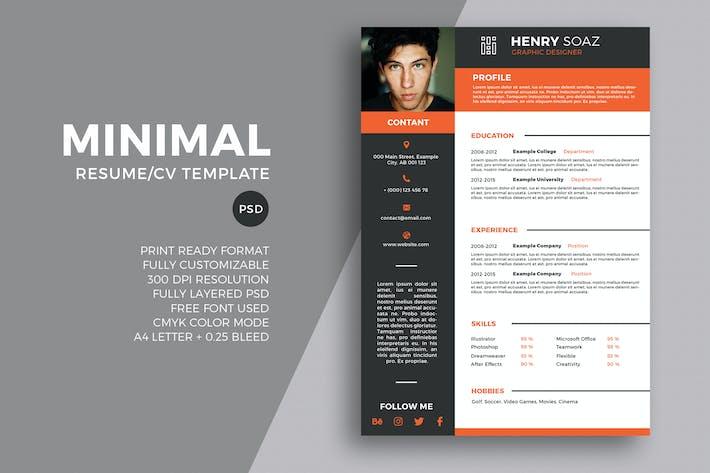 Thumbnail for Minimal Resume Tempalte