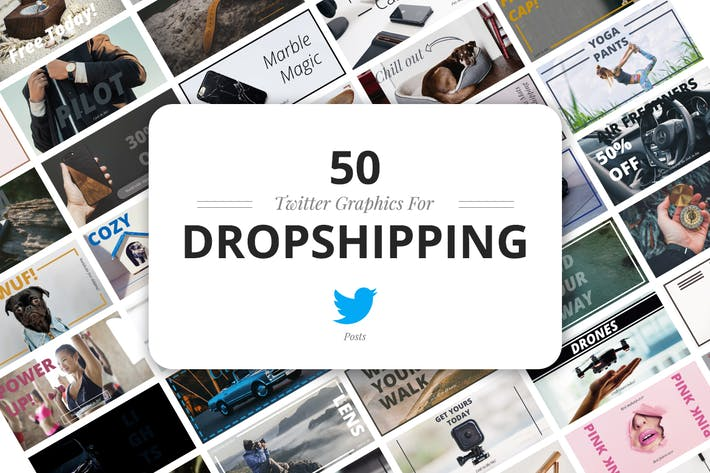 Thumbnail for 50 Twitter Dropshipping Graphics
