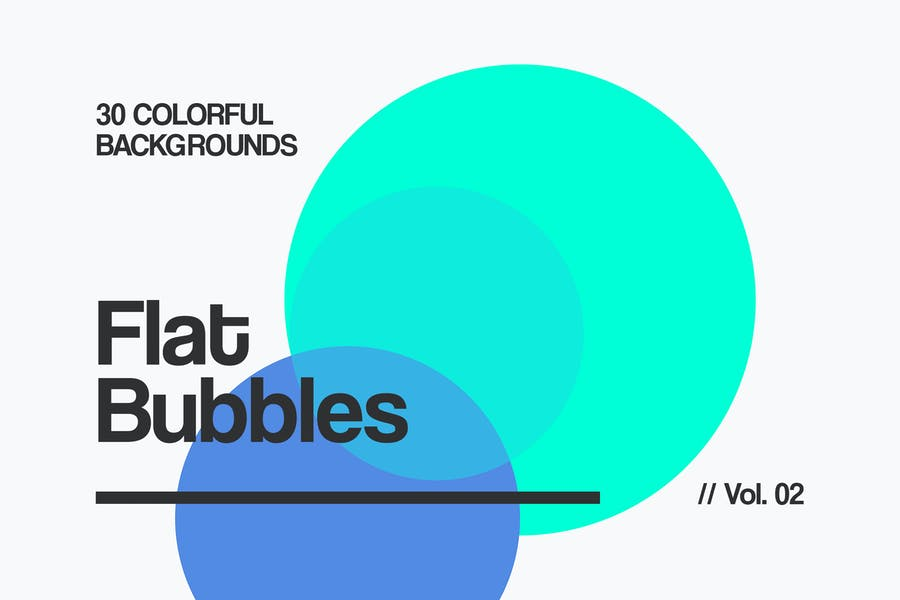 Flat Bubbles   Colorful Backgrounds   Vol. 02