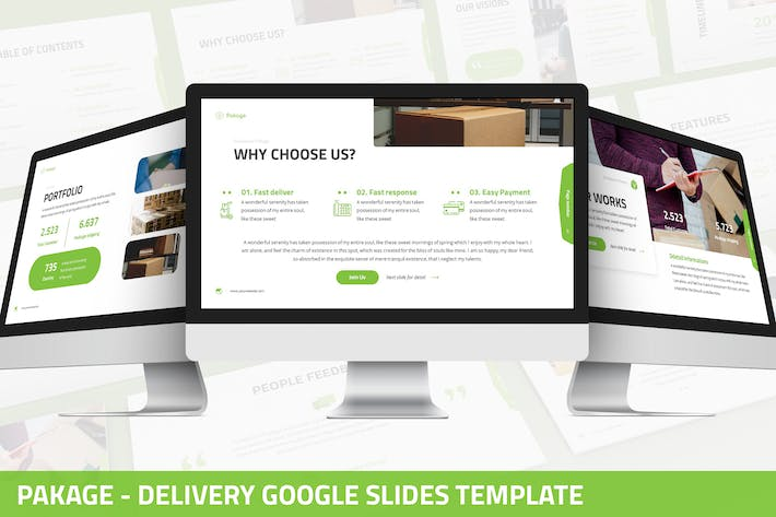 Thumbnail for Pakage - Delivery Google Slides Template