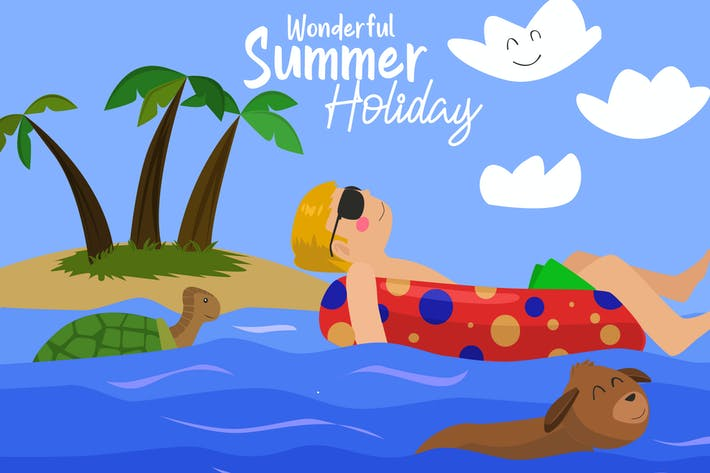 Thumbnail for Wonderful Holiday - Vector Illustration