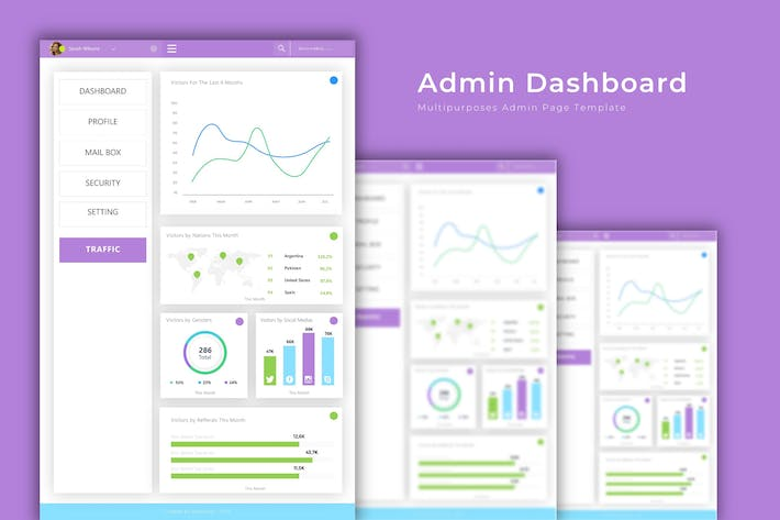 Thumbnail for Admin Dashboard Multipurposes Template