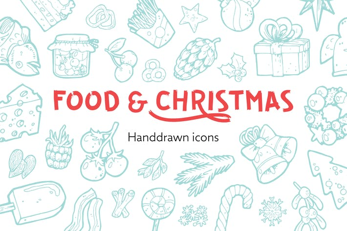 Thumbnail for 212 Food and Christmas Handdrawn