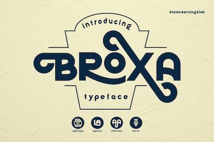 Broxa Decorative Font BS
