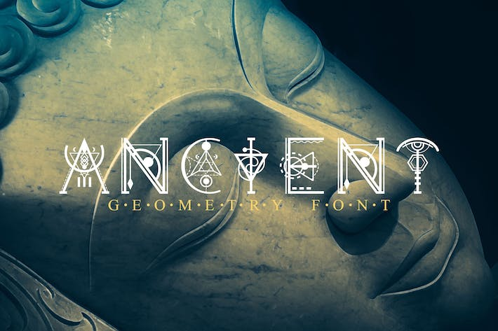 Thumbnail for Ancient-Geometry font