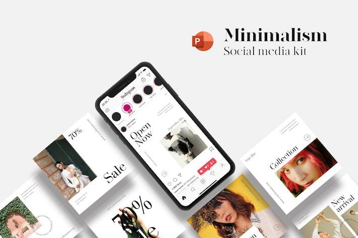 Thumbnail for Minimalism Social Media Kit - PowerPoint