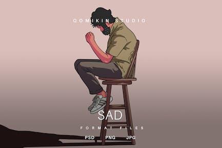 Sad Illustration
