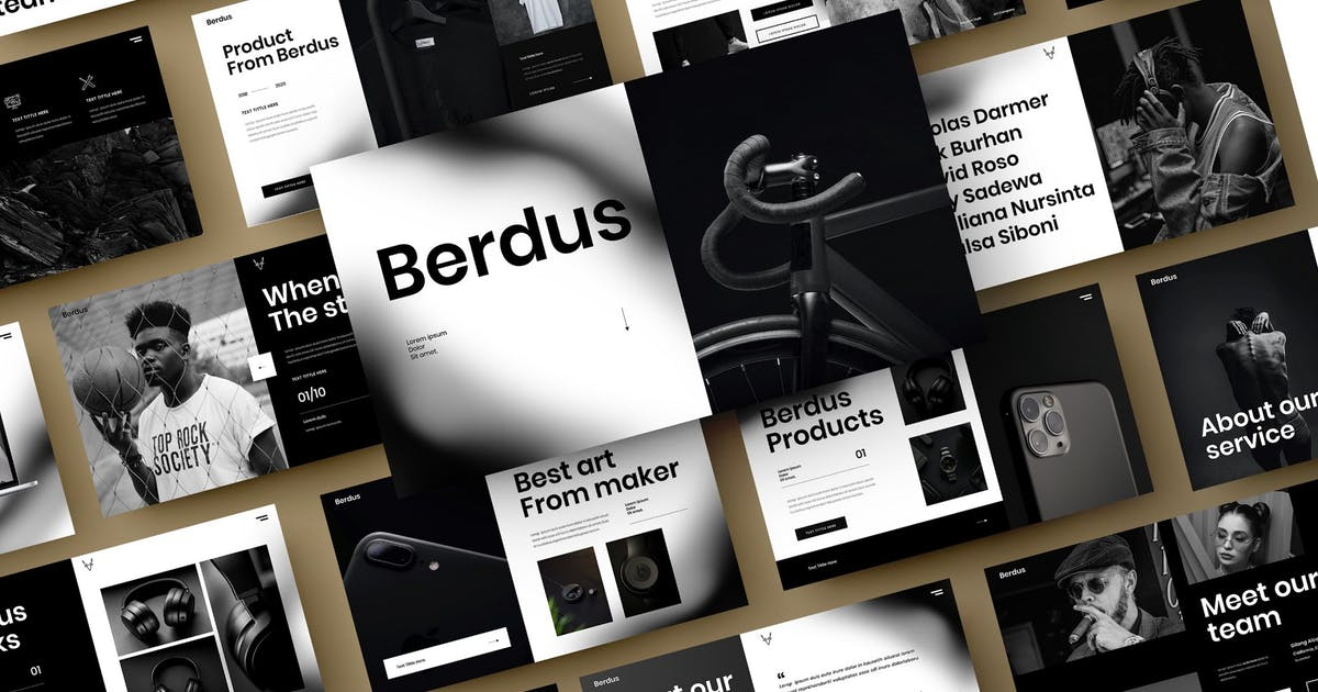 Download Berdus – Business PowerPoint Template by DensCreativeStudio