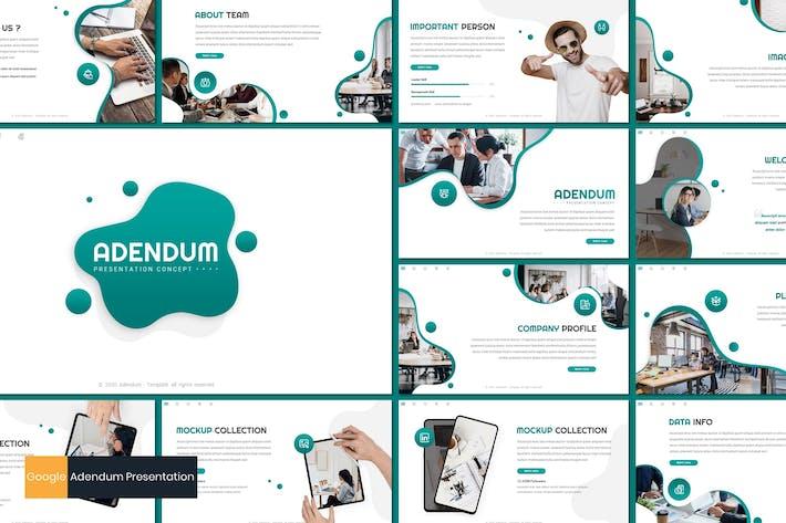 Thumbnail for Adendum - Business Google Slides Template