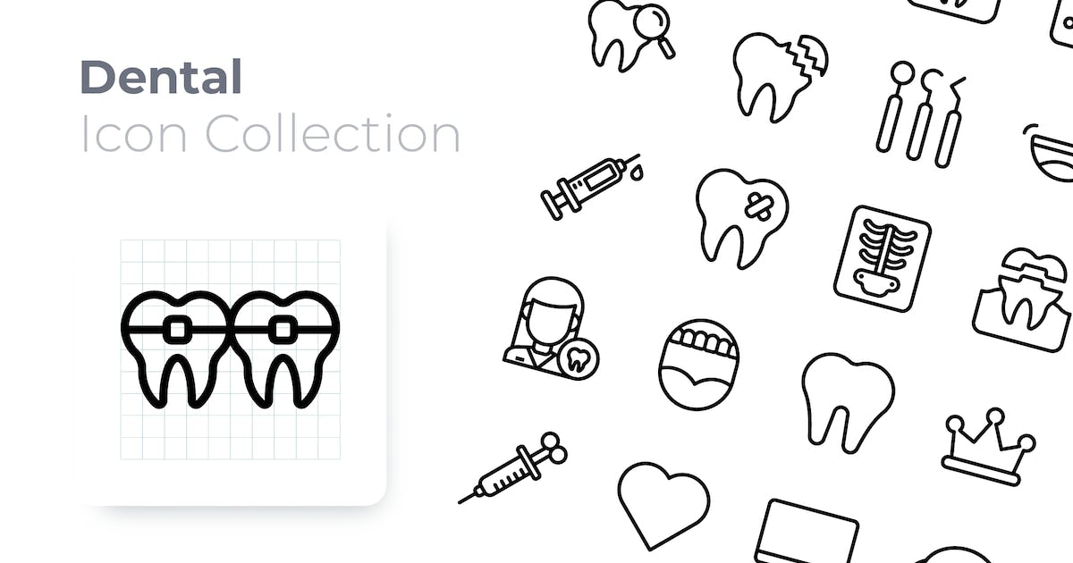 Download Dental Outline Icon by GoodWare_Std