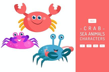 Niedliche Krabbe - Meerestiere Zeichen Vol.9