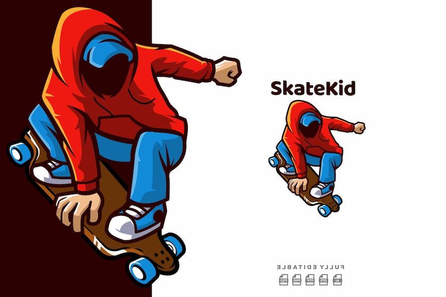 Skater Kid Skateboard Logo