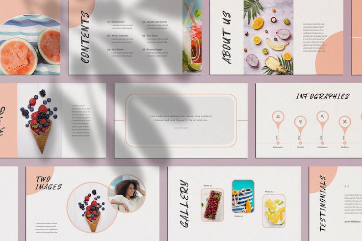 Thumbnail for Nectarine PowerPoint Presentation Template