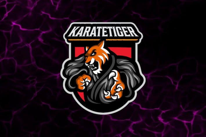Thumbnail for Tiger Karate Logo Template