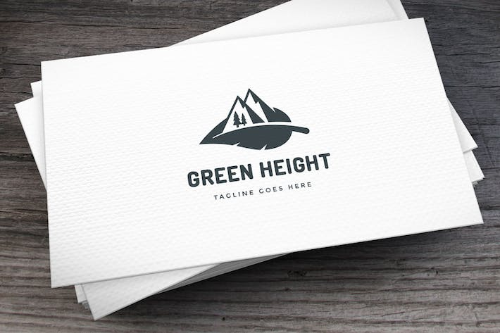 Thumbnail for Green Height Logo Template
