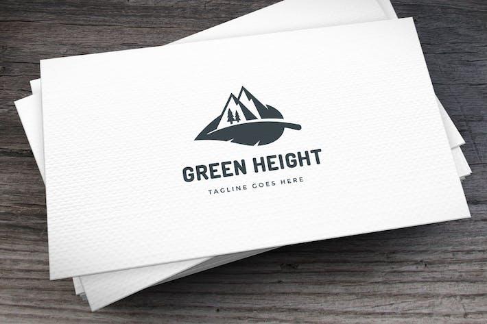 Green Height Logo Template