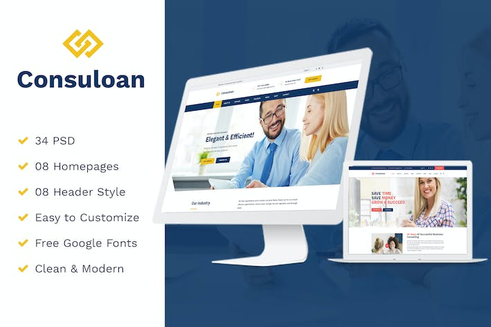Thumbnail for Consuloan | Multipurpose Consulting Psd Templates