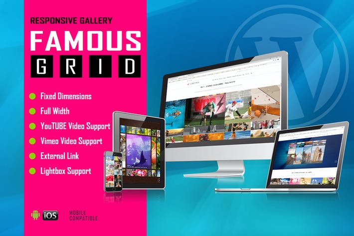 Thumbnail for Famous - Responsive Image And Video Grid Gallery
