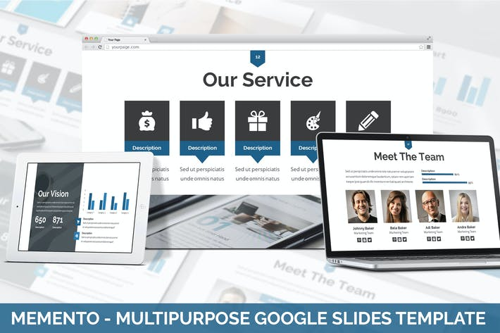 Thumbnail for Memento - Multipurpose Google Slides Template
