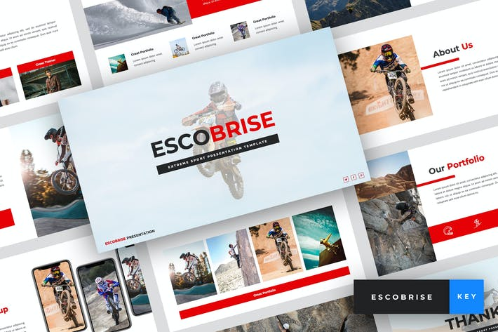 Thumbnail for Escobrise - Extreme Sport Keynote Template