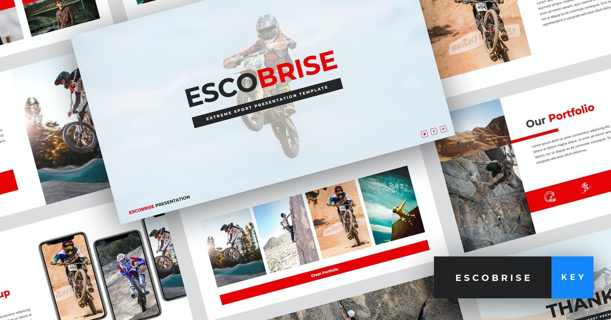 Download Escobrise - Extreme Sport Keynote Template by StringLabs
