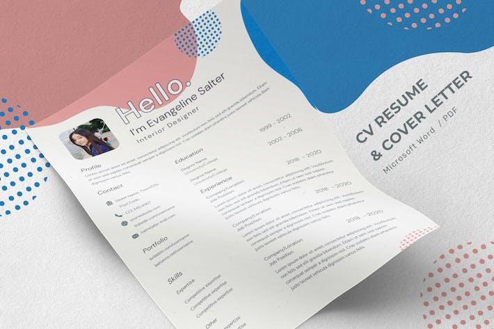 Thumbnail for Evangeline Salter - CV Resume Template