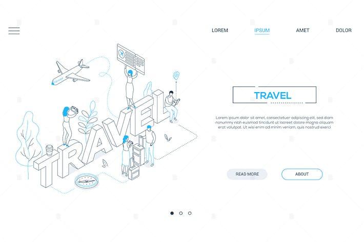 Thumbnail for Travel  - line design style isometric web banner