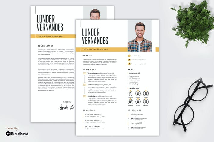 Thumbnail for Lunder Vernandes - Resume Template TS