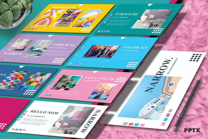 Thumbnail for NARROW - Colorfull Powerpoint Template