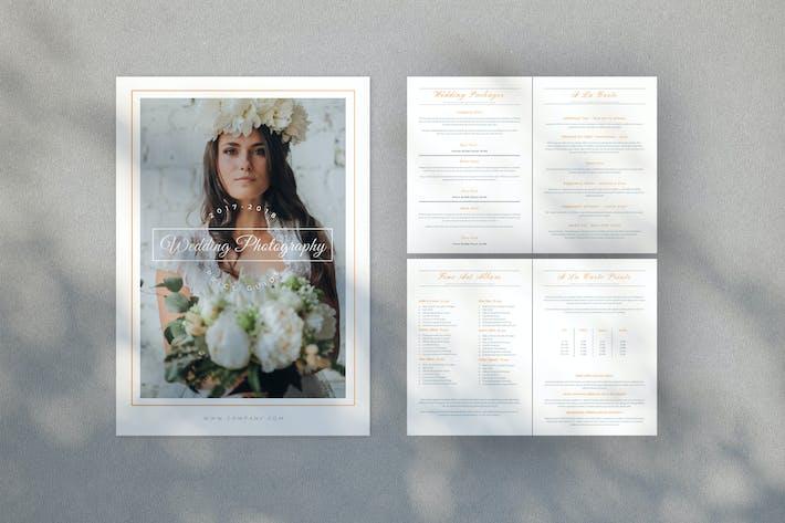 Thumbnail for Lista de precios de fotografía de bodas