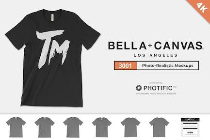 Bella + Canvas 3001 T Shirt Mockups