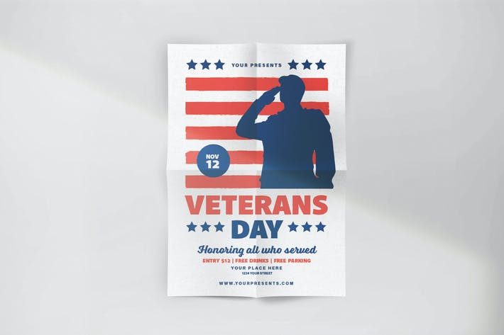 Thumbnail for Folleto de celebración del Día de los Veteranos