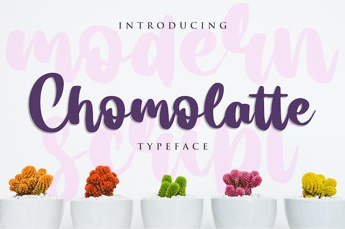 Thumbnail for Chomolatte - Modern Script Font
