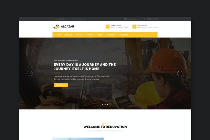 Thumbnail for Alcazar - Construction, Renovation & Building HTML