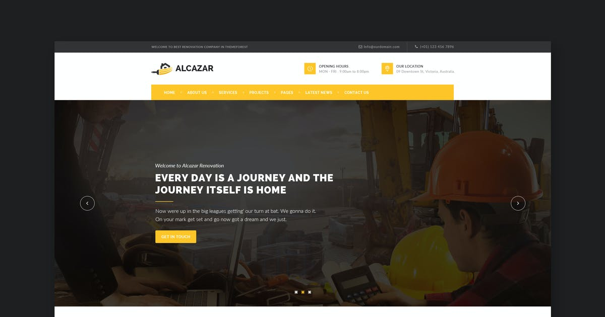 Download Alcazar - Construction, Renovation & Building HTML by WPmines
