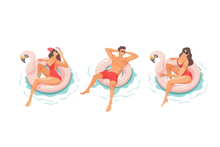 Thumbnail for Young People Relaxing In Swimming Pool