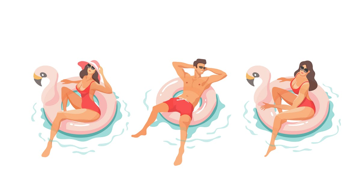 Download Young People Relaxing In Swimming Pool by Faber14