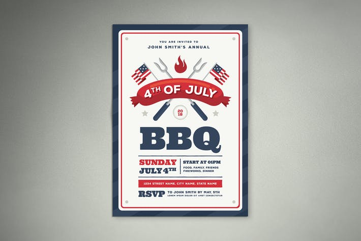 Thumbnail for 4th Of July BBQ Flyer 01