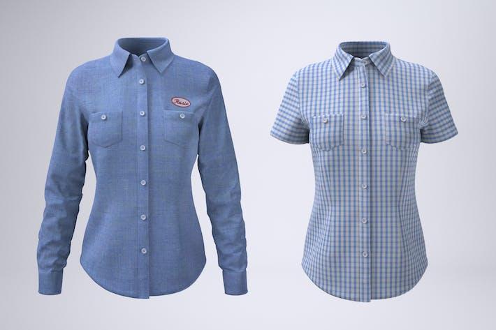 Thumbnail for Women's Work Shirt Mock-Up