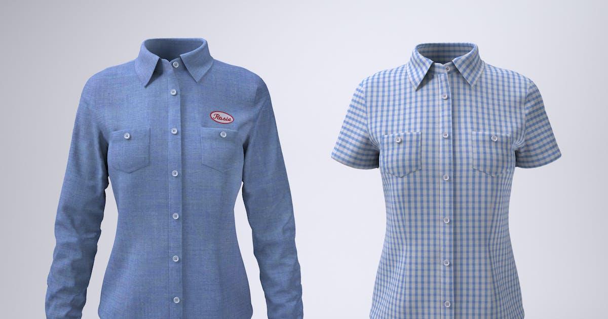 Download Women's Work Shirt Mock-Up by Sanchi477