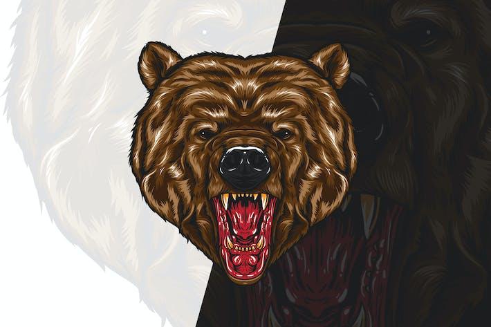 Thumbnail for Angry Bear Head