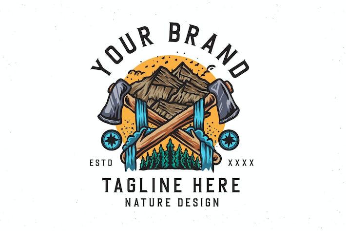 Outdoor-Natur-Design-Vektor-Illustration