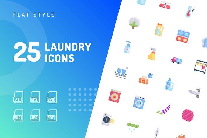 Laundry Flat Icons